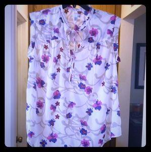 14th & Union mandarin collared blouse